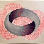 Leah Wolff, Impossible Shape 2a, 2012, watercolor and graphite on paper, 9&quot; x 12&quot;