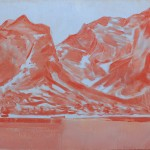 Maanik Singh Chauhan, Untitled (Red/Blue Mountain), 2012, oil on panel
